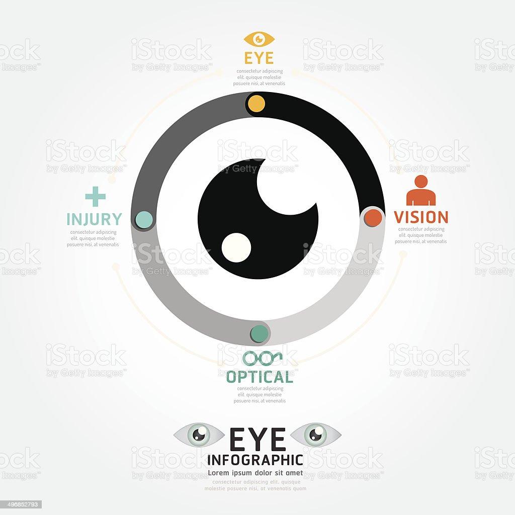 infographics vector eye design diagram line style timeline vector art illustration