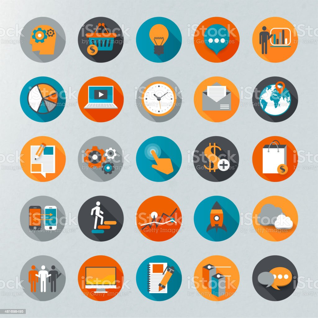 Infographics vector icon set vector art illustration