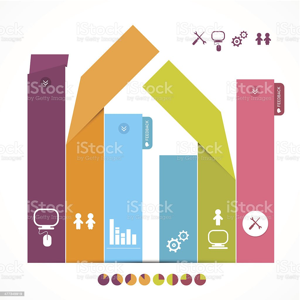Infographics Vector Layout with Icons royalty-free stock vector art