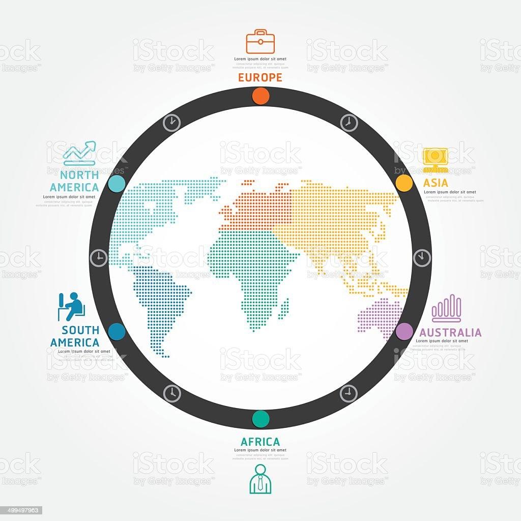 infographics vector world business concept design diagram line. royalty-free stock vector art