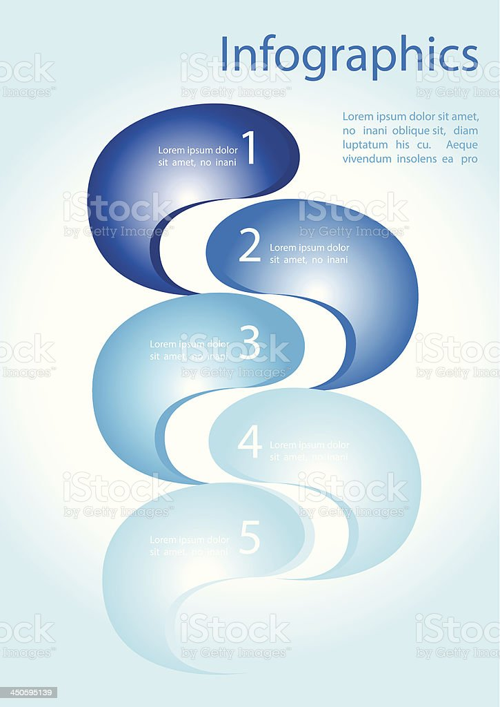 Infographics waves royalty-free stock vector art