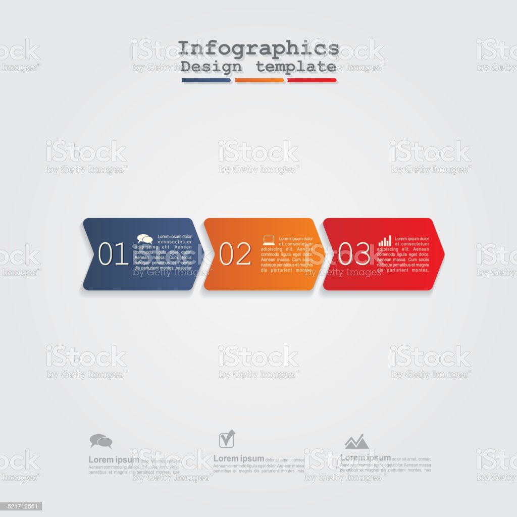 Infographics with arrows. vector art illustration