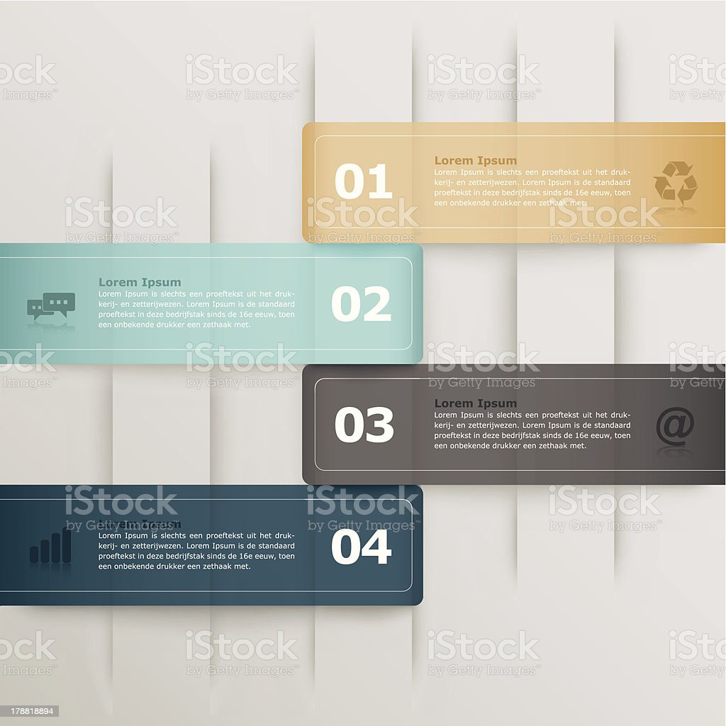 Infograpic banners royalty-free stock vector art