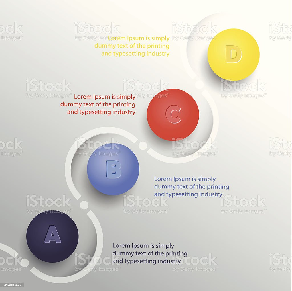 Inforgraphic elements vector art illustration