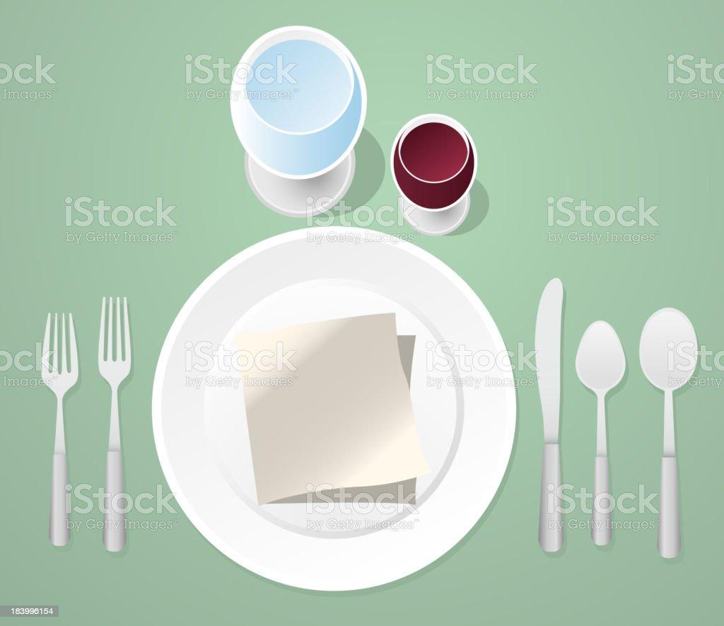 Informal Place Setting Table vector art illustration