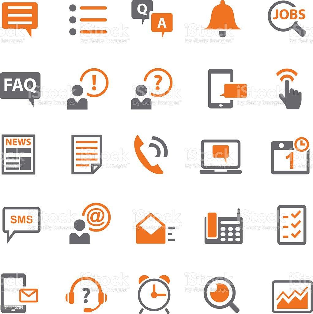Information and notification icon set vector art illustration