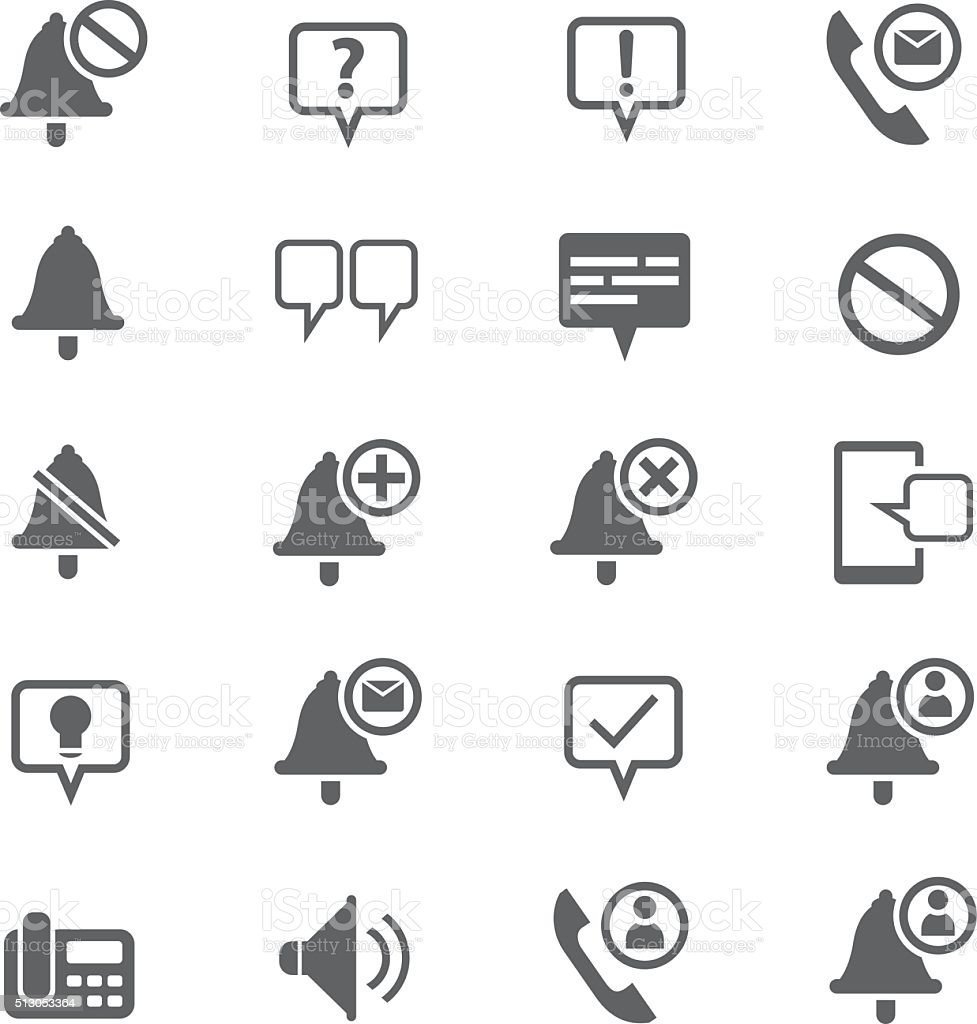 Information and notification icons vector art illustration