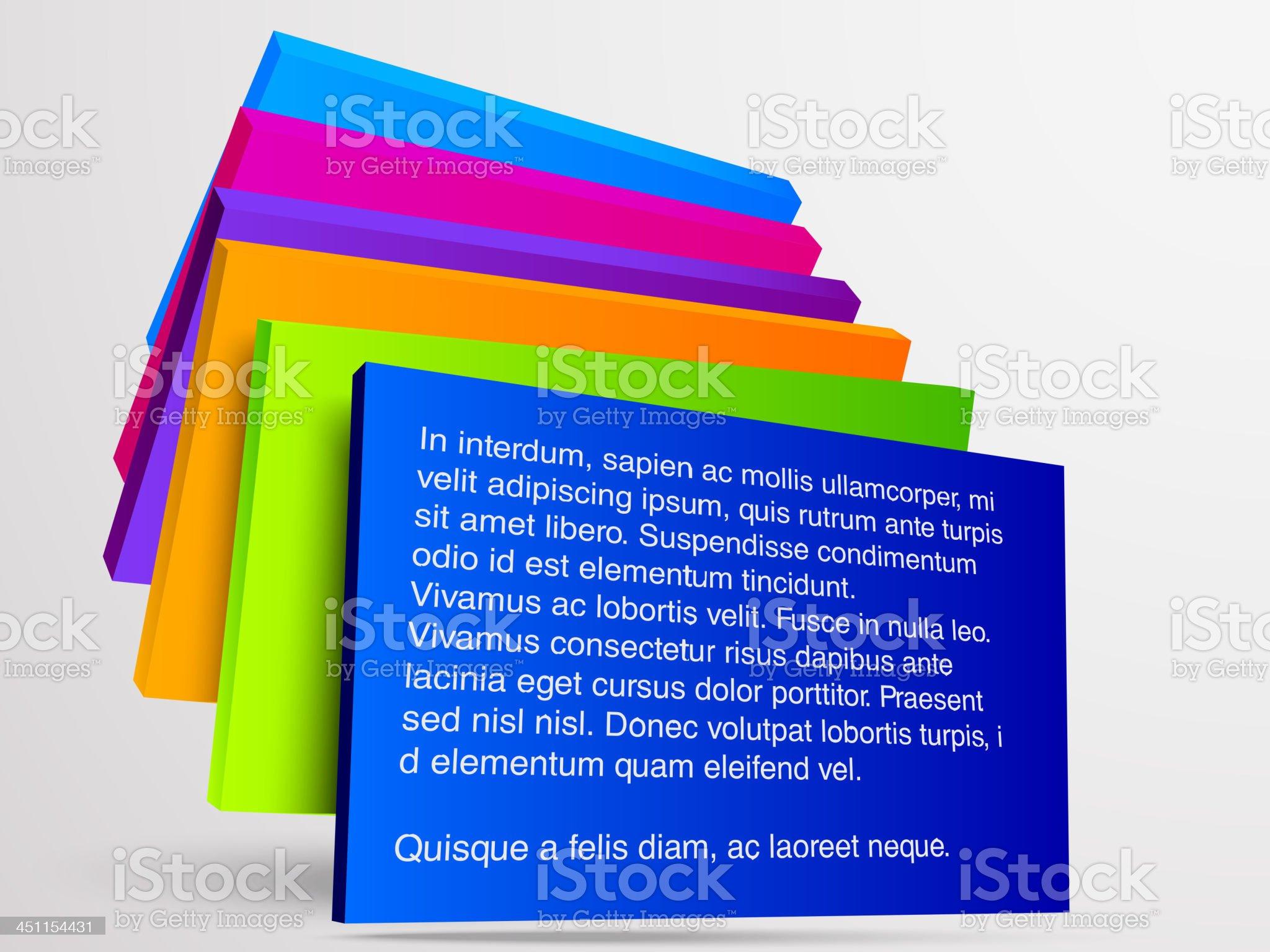 Information boards royalty-free stock vector art