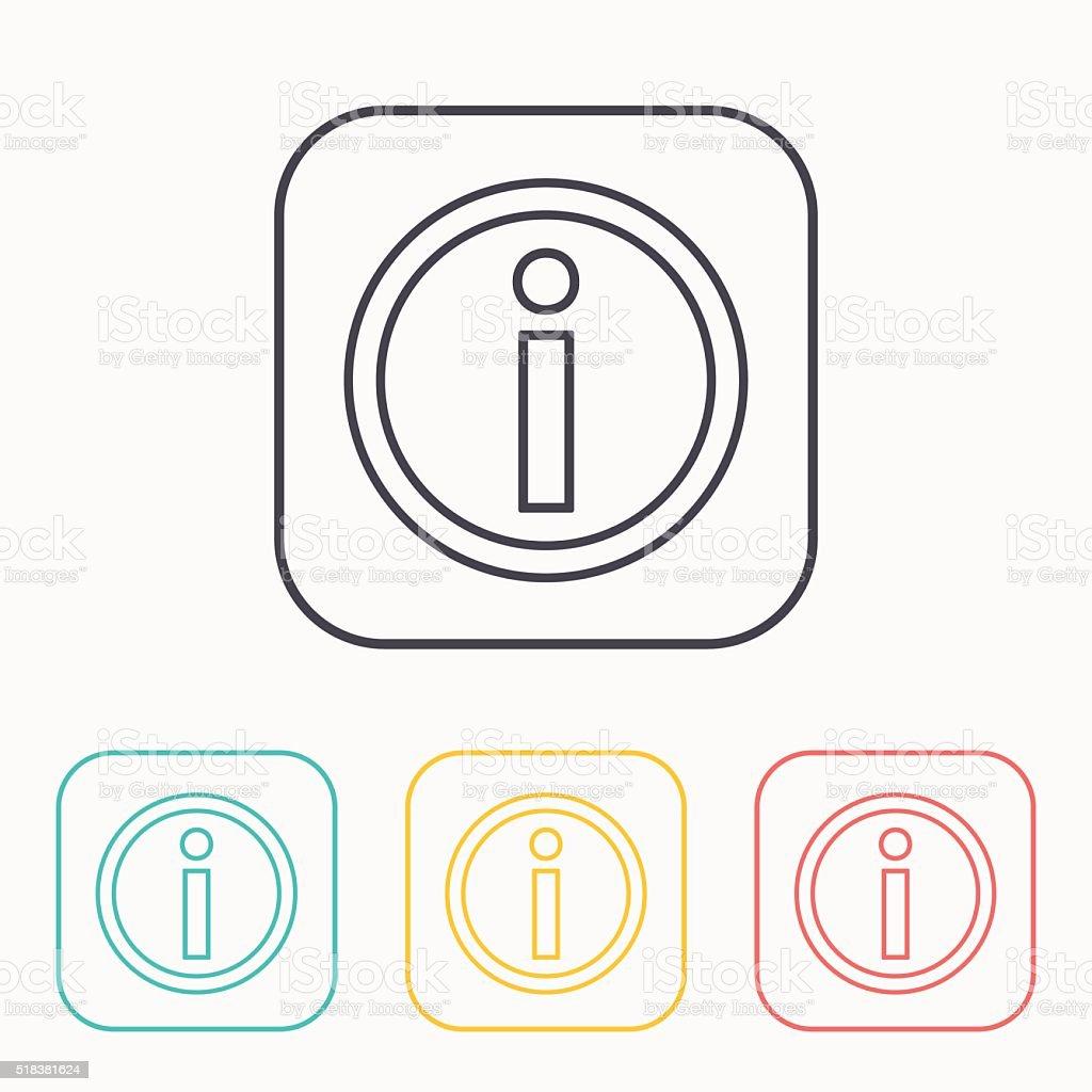information color icon set vector art illustration