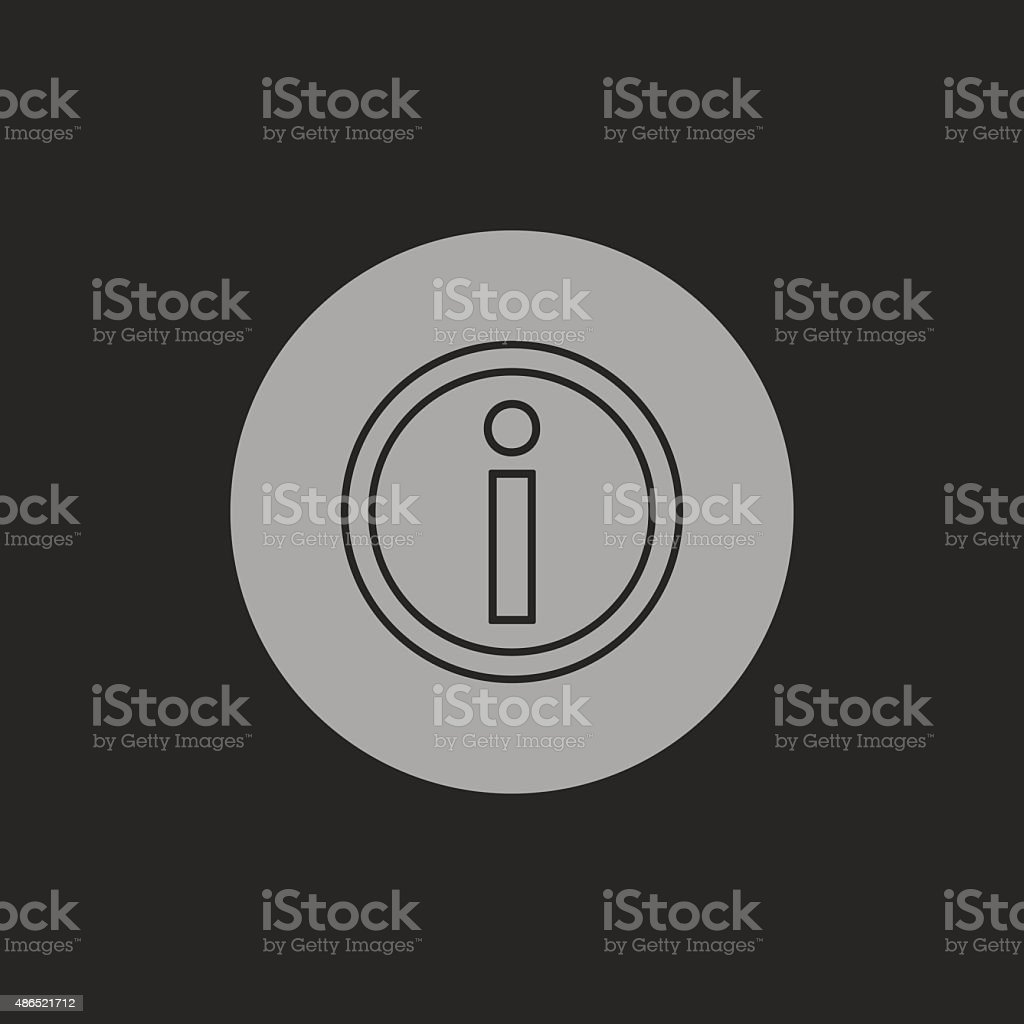 information icon vector art illustration