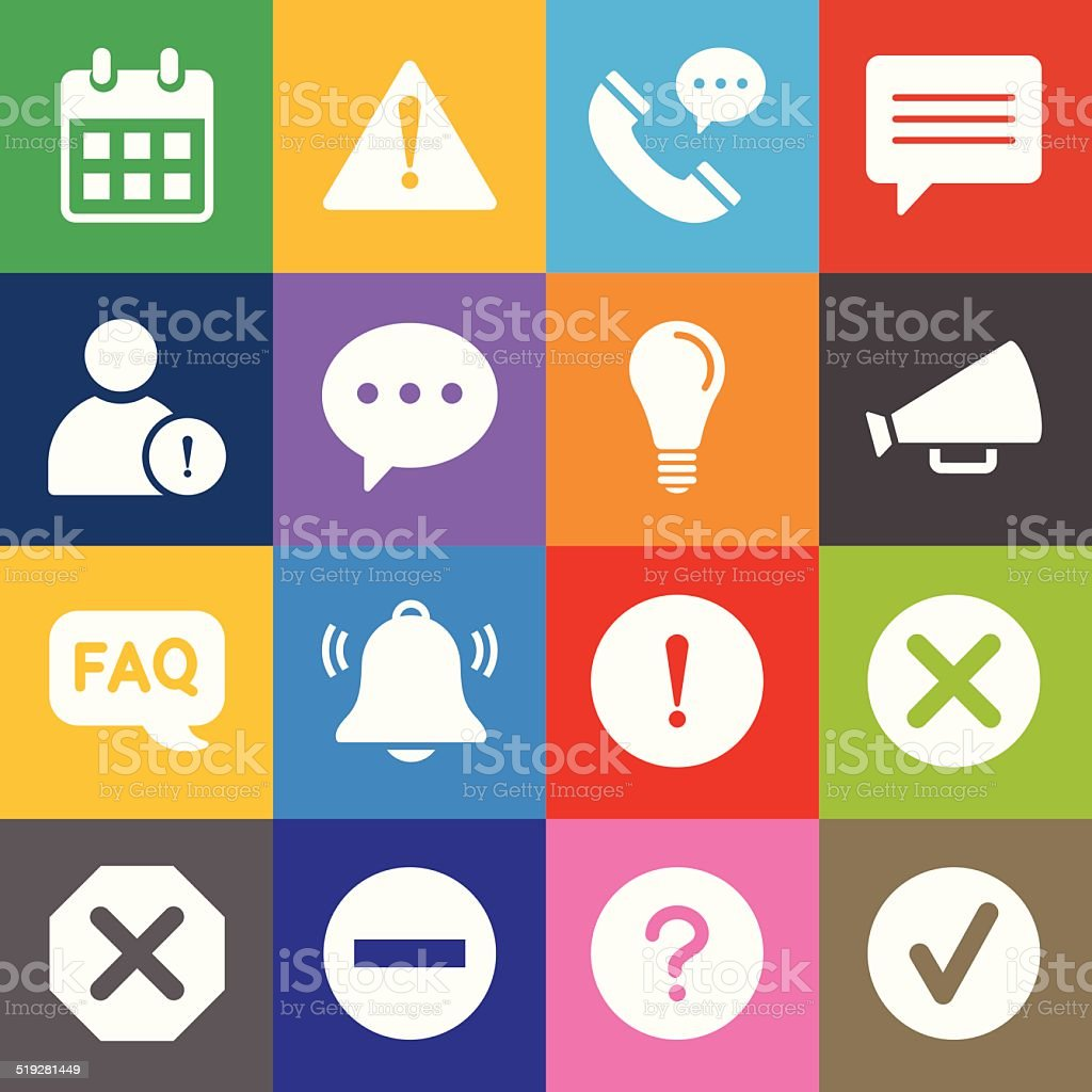 Information Icons and Color Background vector art illustration