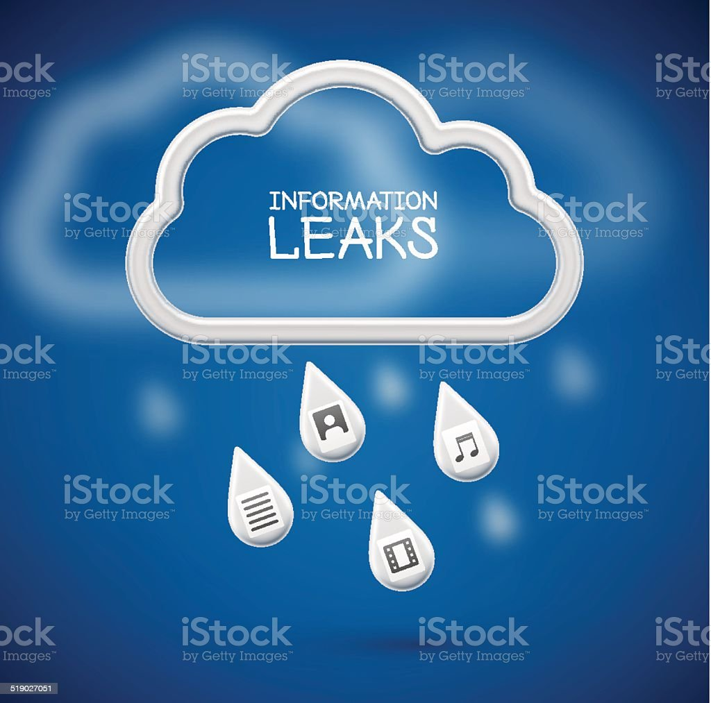 Information Leaks vector art illustration