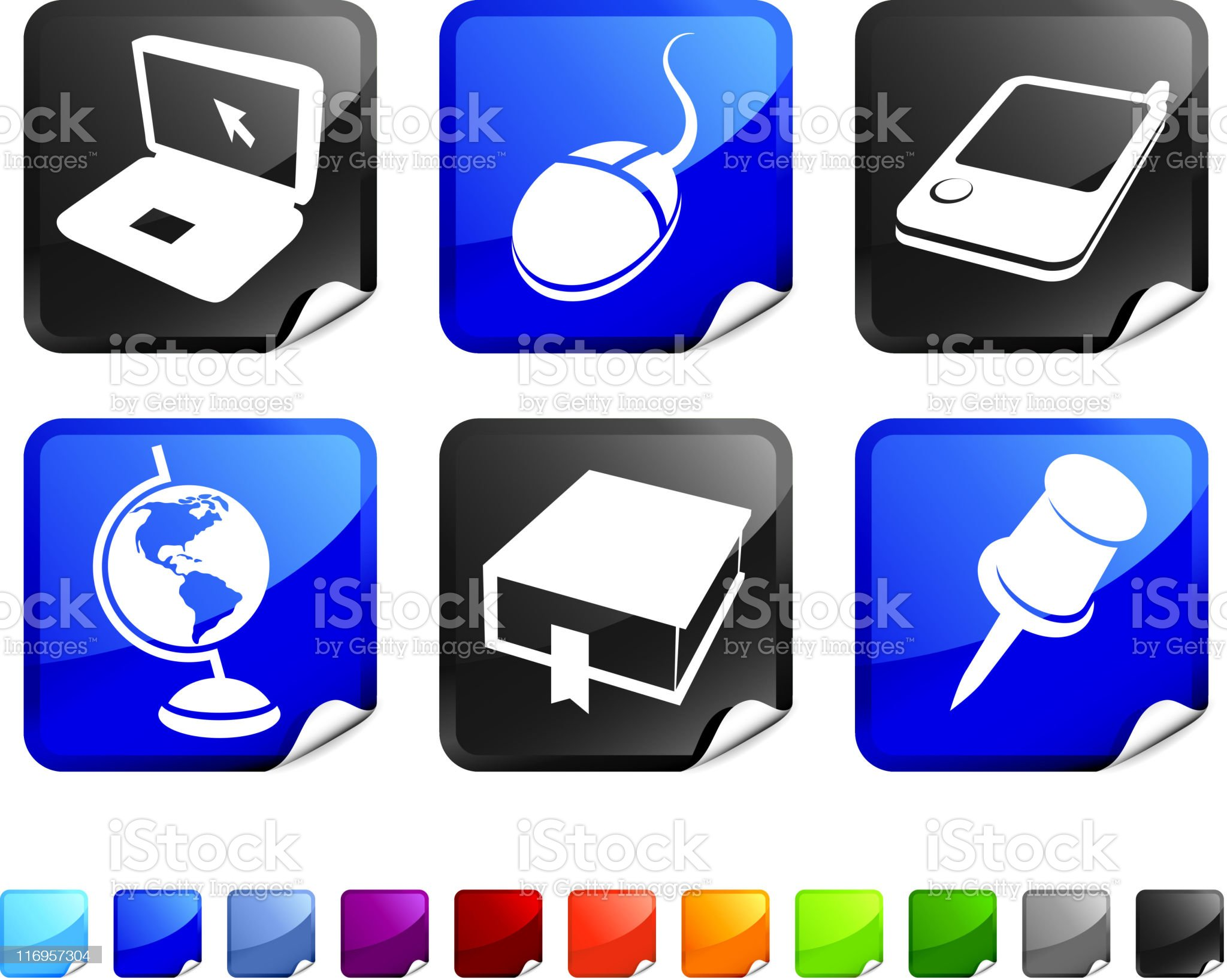 information royalty free vector icon set royalty-free stock vector art