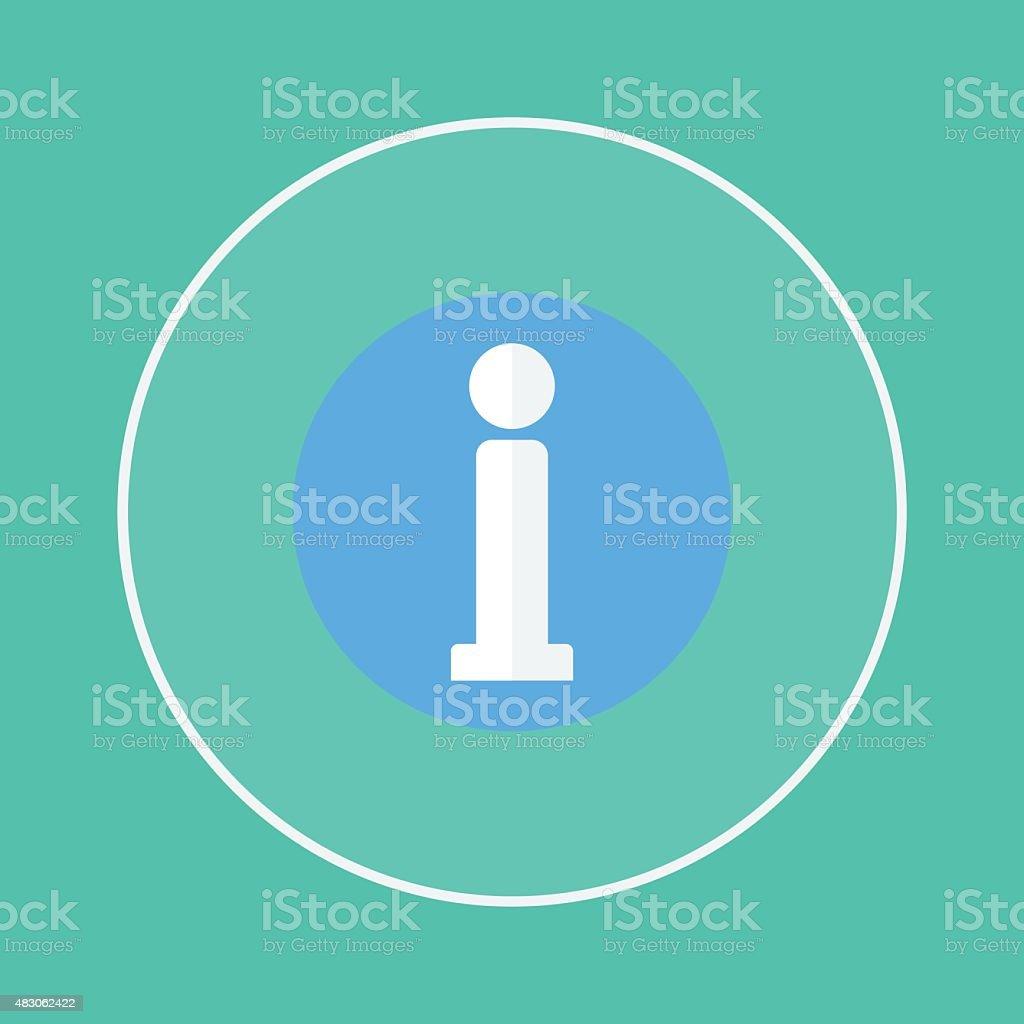 information sign icon vector art illustration