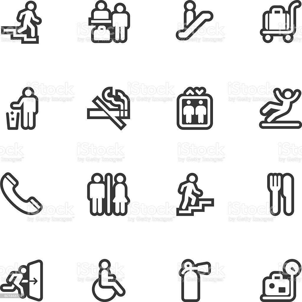 Information Sign icons - Regular Outline vector art illustration
