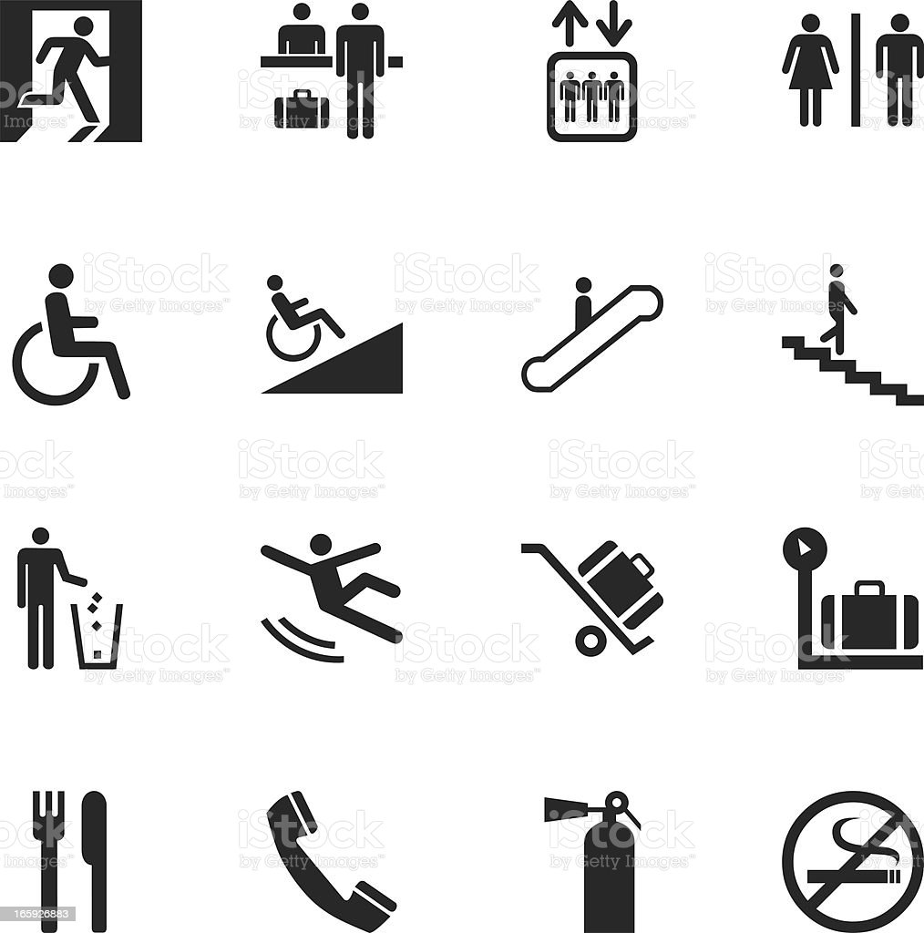 Information Sign Silhouette Icons vector art illustration