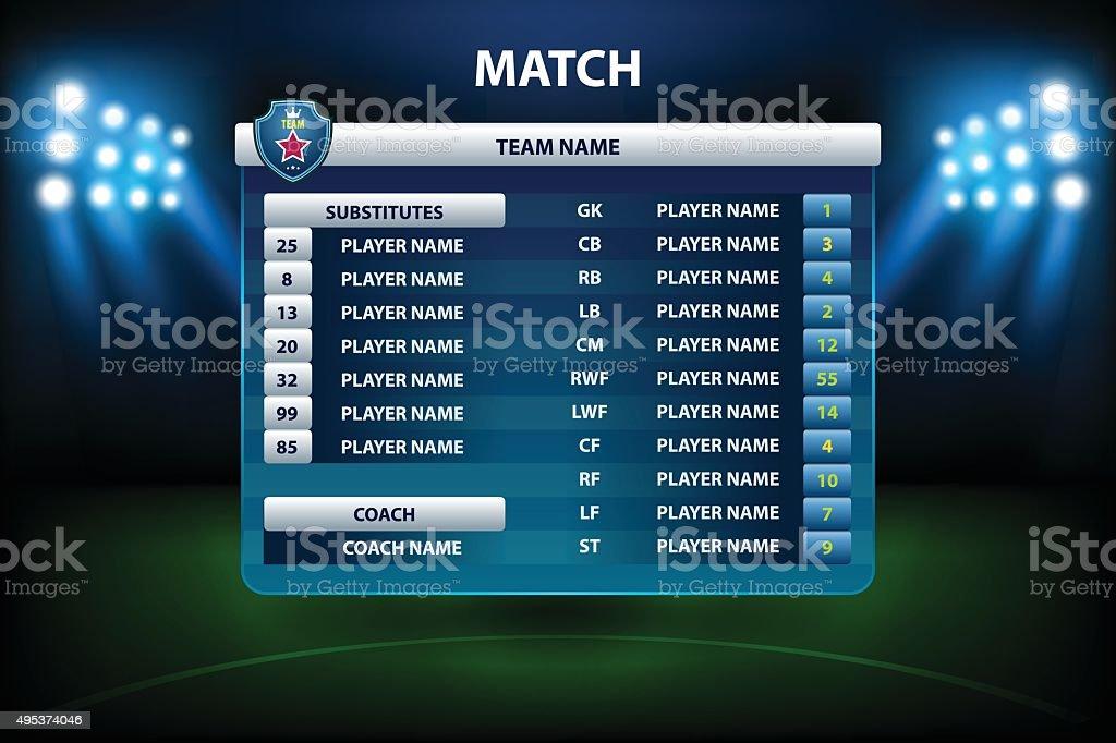 Information soccer board royalty-free stock vector art