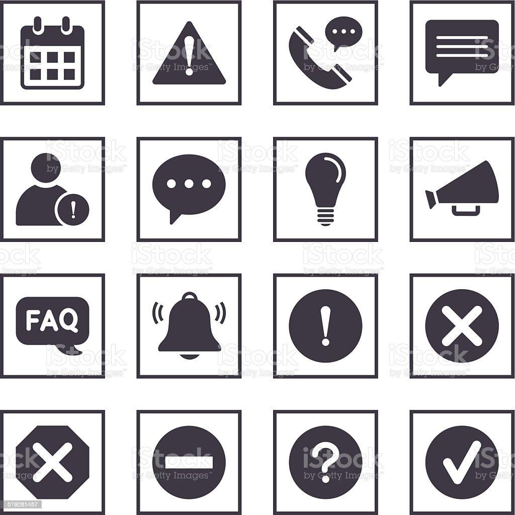 Information Symbols vector art illustration