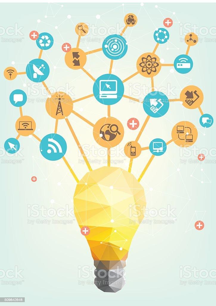 Information technology ideas vector art illustration