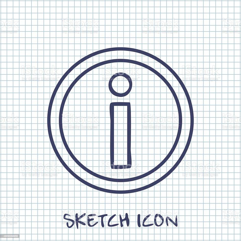 information Vector sketch icon vector art illustration