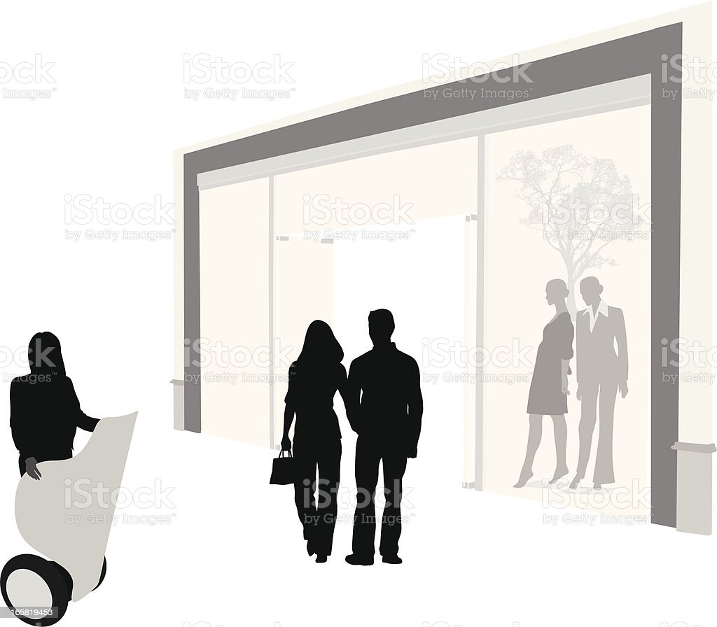 Informational Vector Silhouette vector art illustration