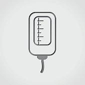 infusion bag grey icon