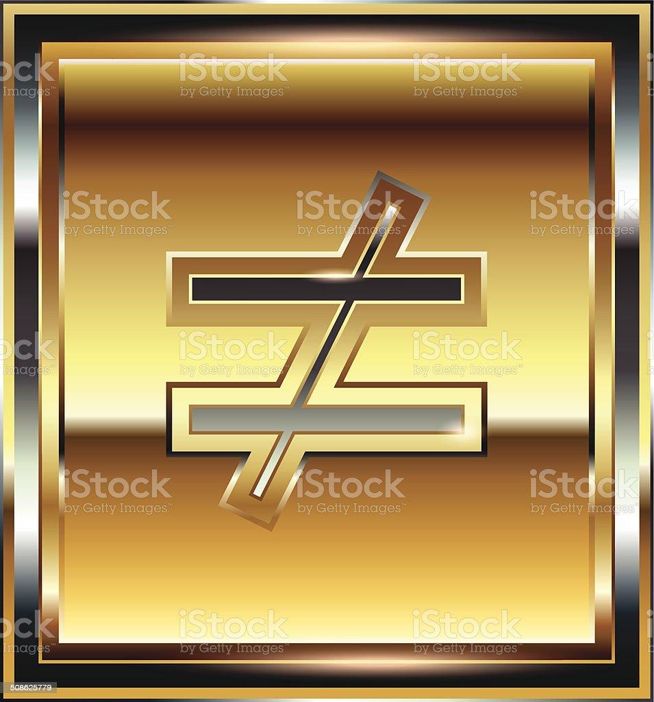 Ingot symbol illustration vector art illustration