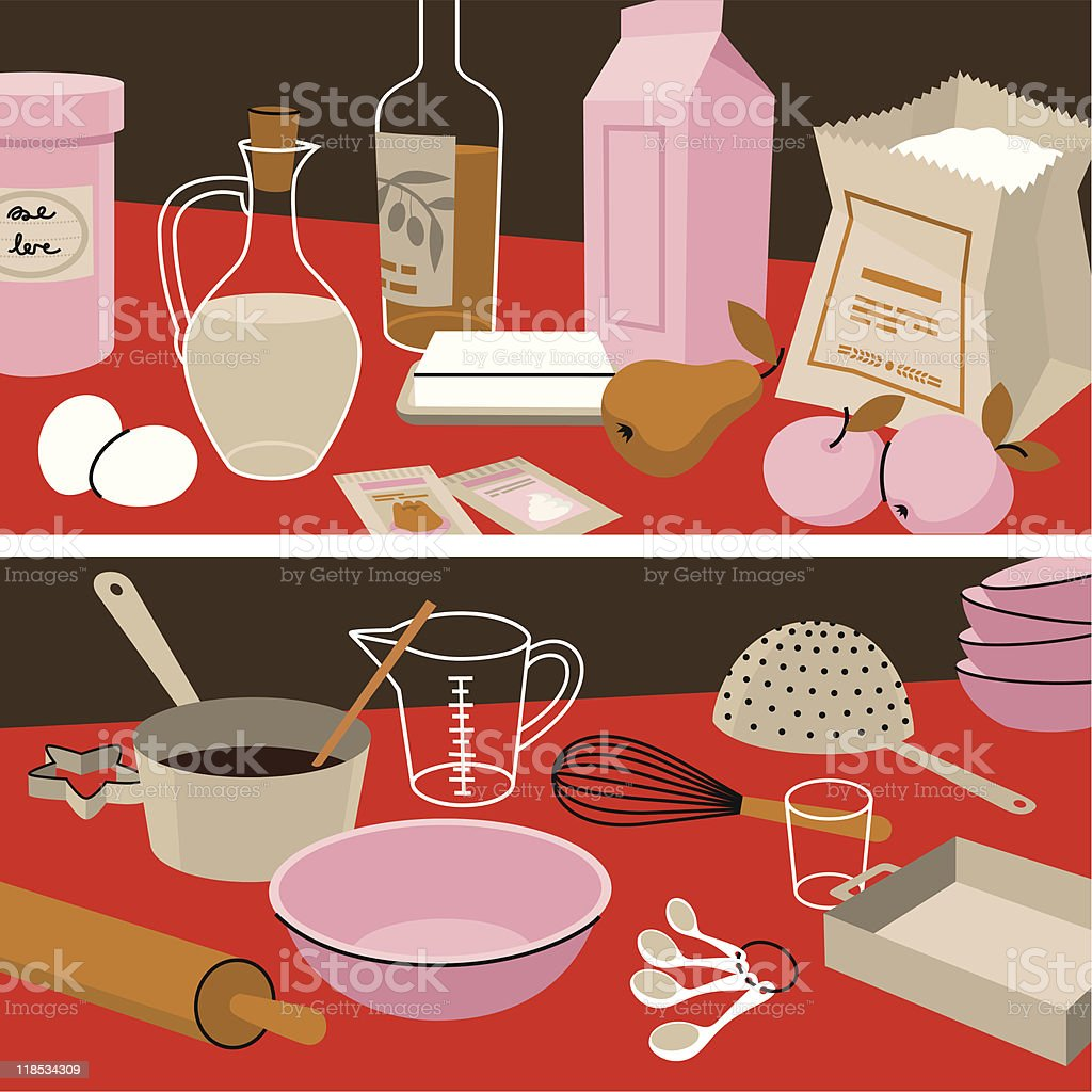 Ingredients&Instruments. royalty-free stock vector art
