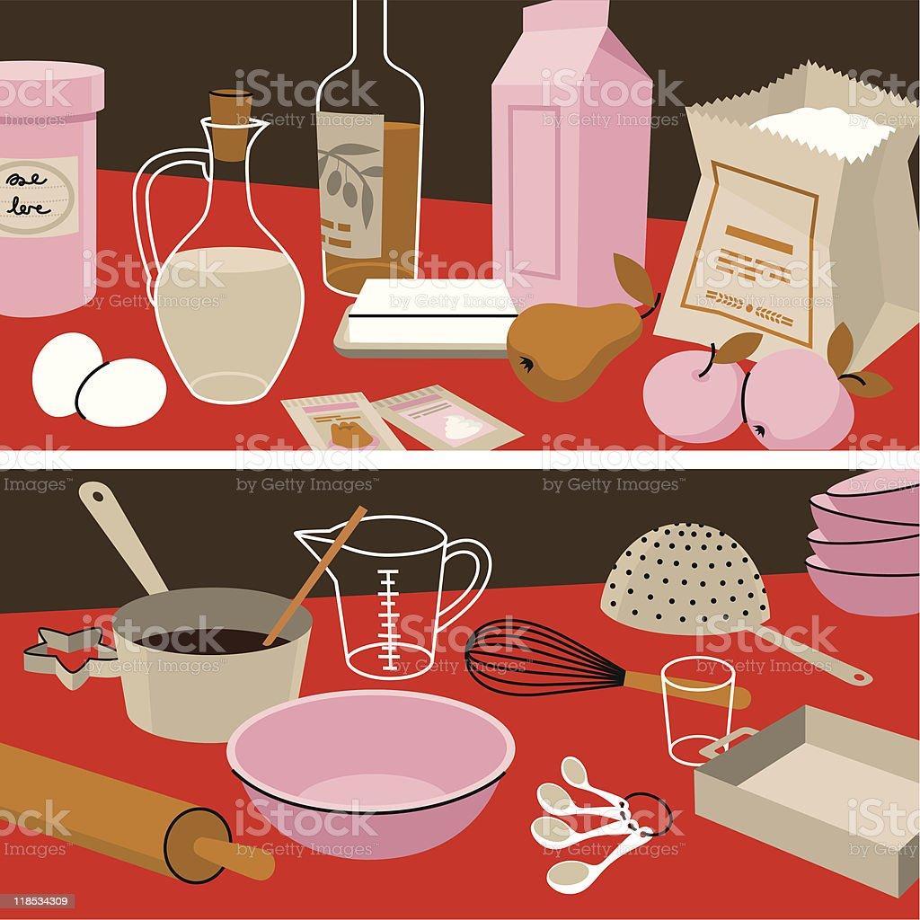 Ingredients&Instruments. vector art illustration