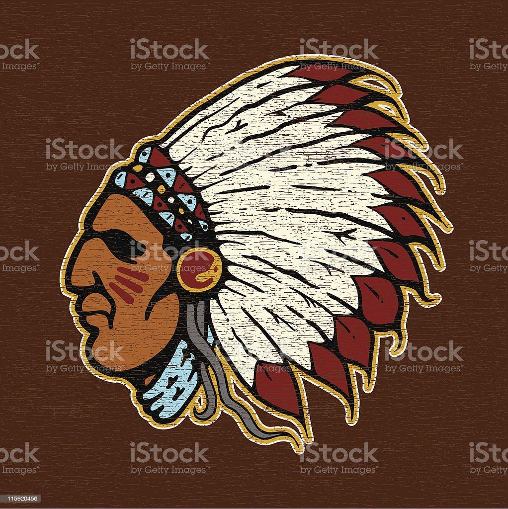 Injun Joe Logo ?? vector art illustration