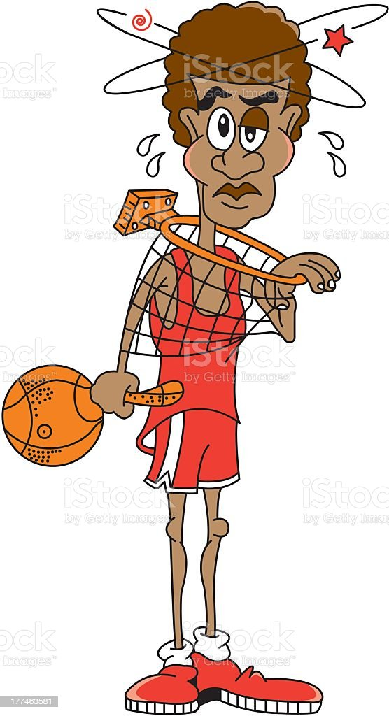 Injured Basketball Player royalty-free stock vector art