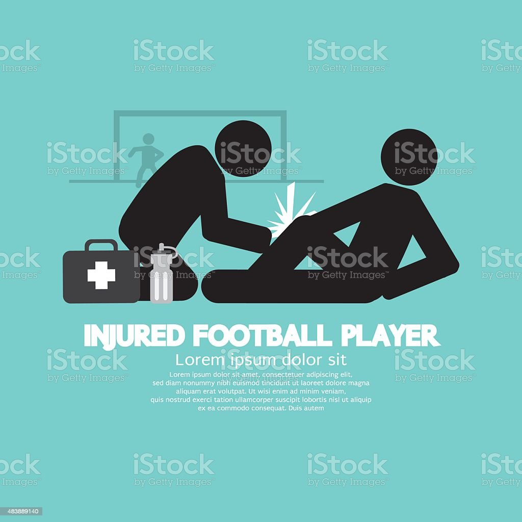 Injured Football Player vector art illustration
