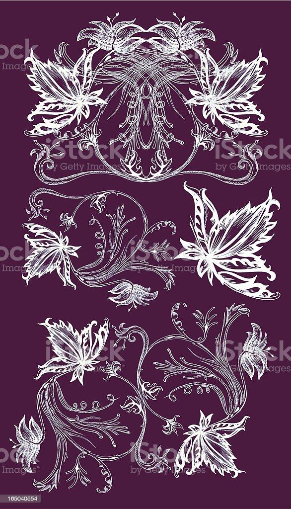 Tinte Zeichnung design-Elemente: Sehr detaillierte Lizenzfreies vektor illustration