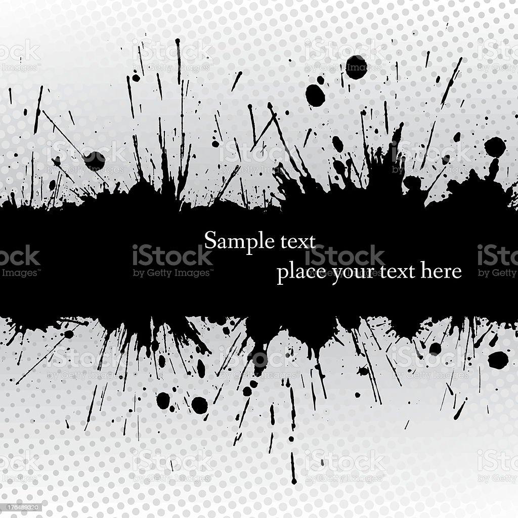 Ink grunge banner. vector art illustration