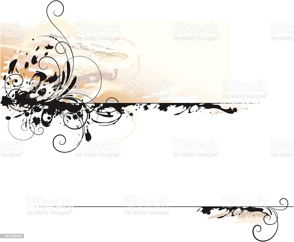 ink letter background royalty-free stock vector art