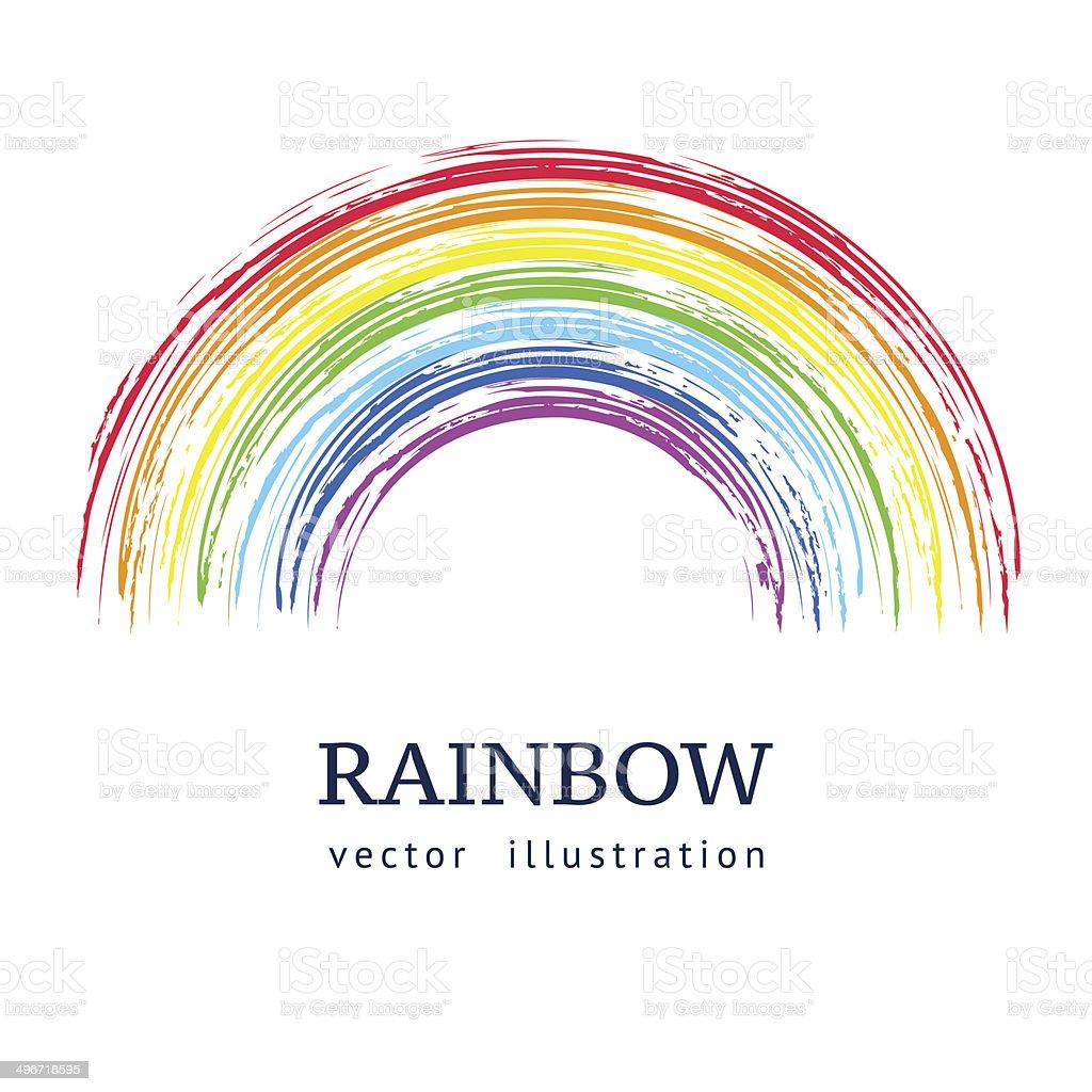 Ink rainbow. vector art illustration