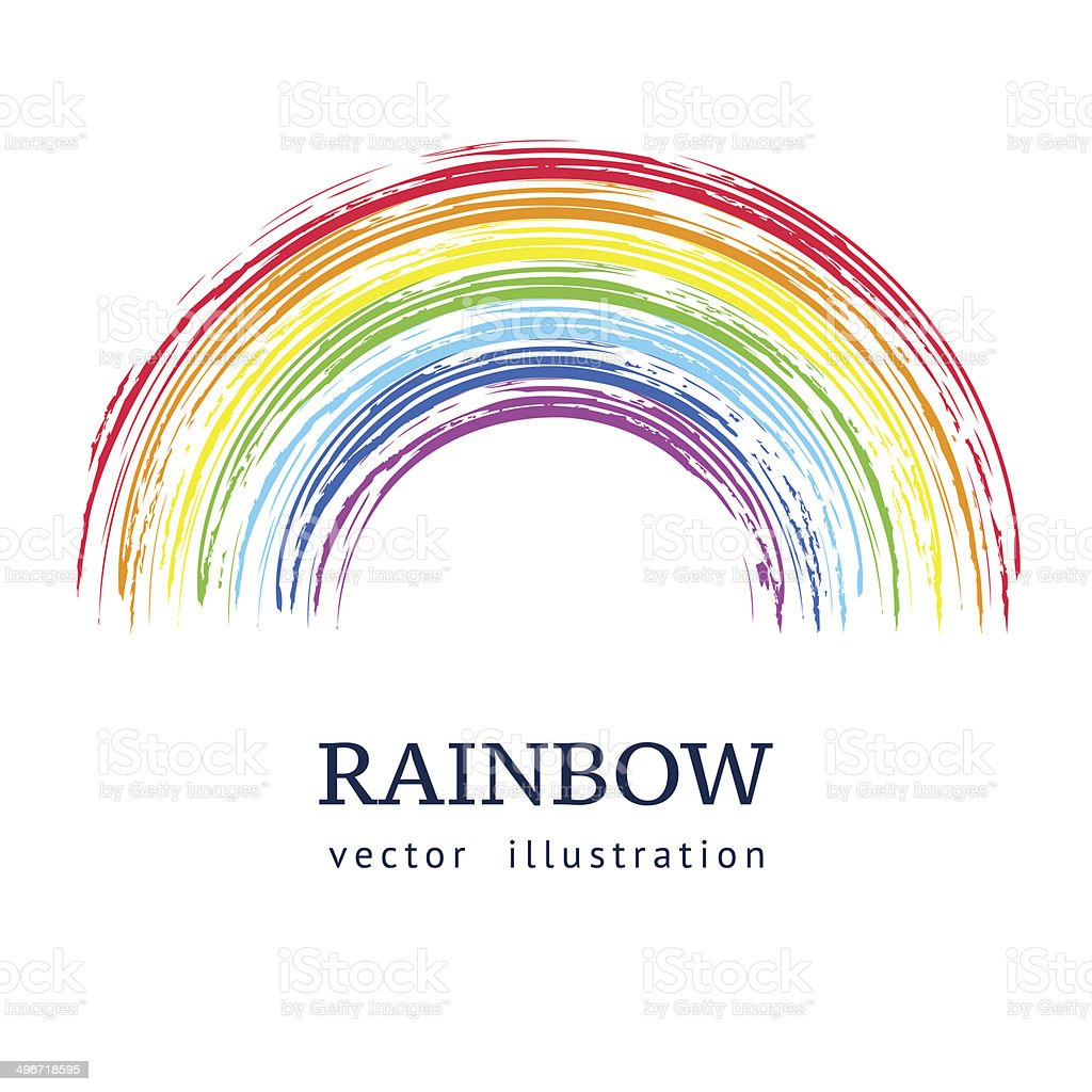 Ink rainbow. vector art illustration