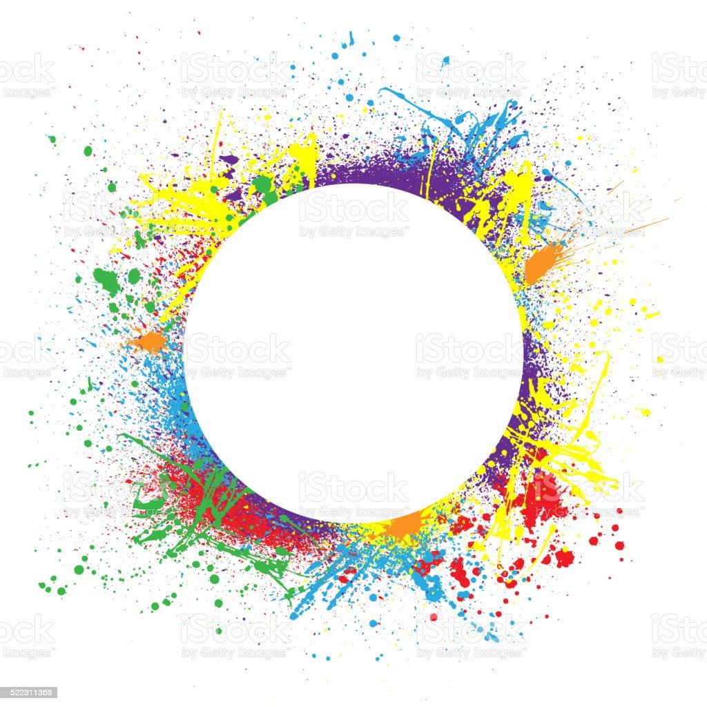 Ink splash background circle vector art illustration