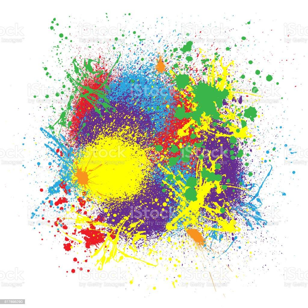 Ink splash background vector art illustration