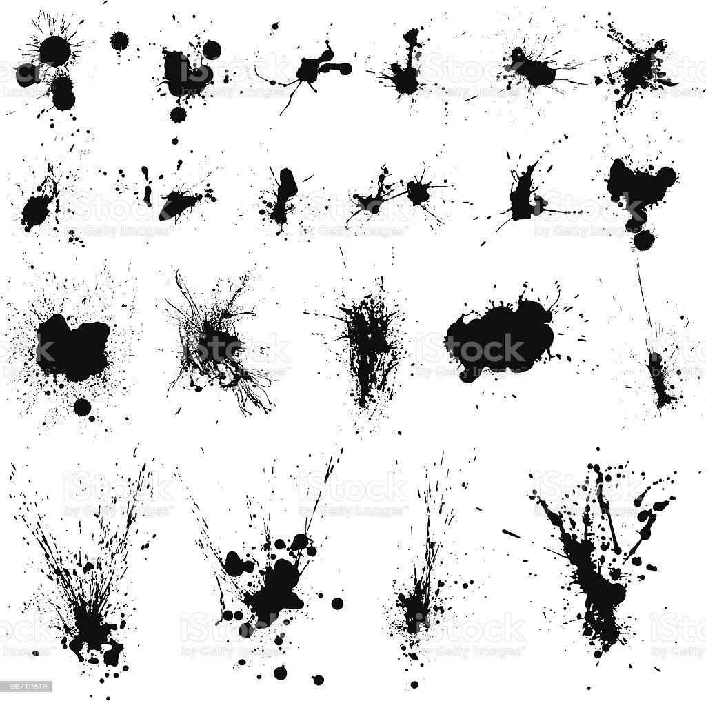 Ink Splat Set royalty-free stock vector art