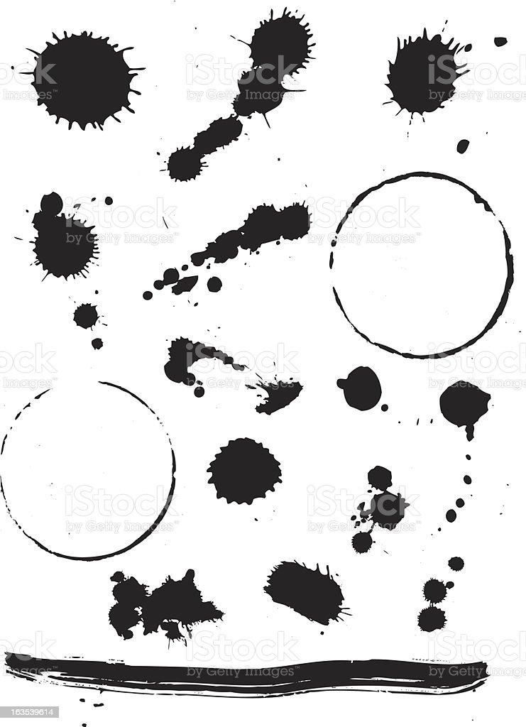 Ink splats royalty-free stock vector art