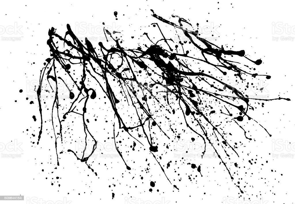 Ink spot blotch on white background. vector art illustration