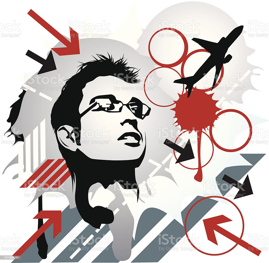 Inked vector art illustration