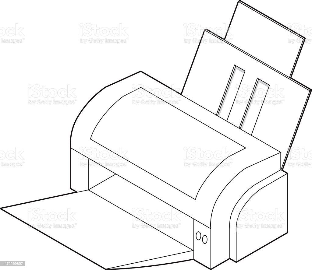 Inkjet Printer royalty-free stock vector art