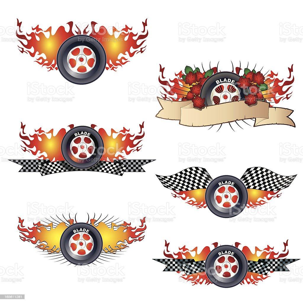 Inliner blades vector art illustration