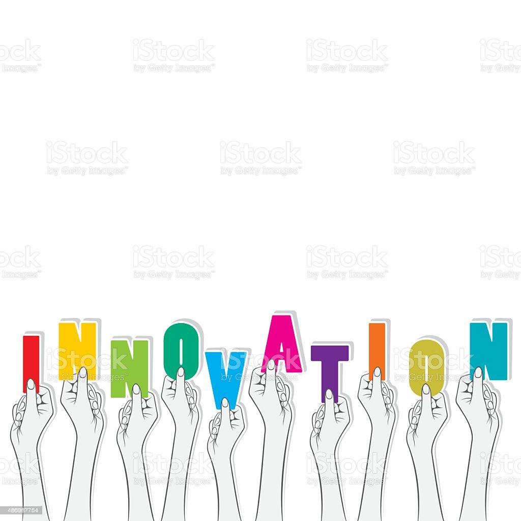 innovation banner design vector art illustration