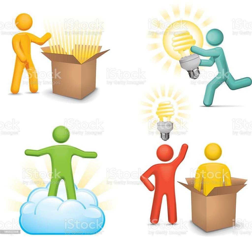 Innovation Icon Set: Conceptual vector art illustration