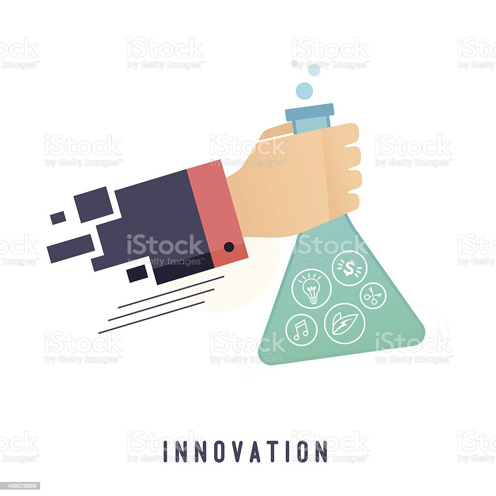 Innovation vector art illustration