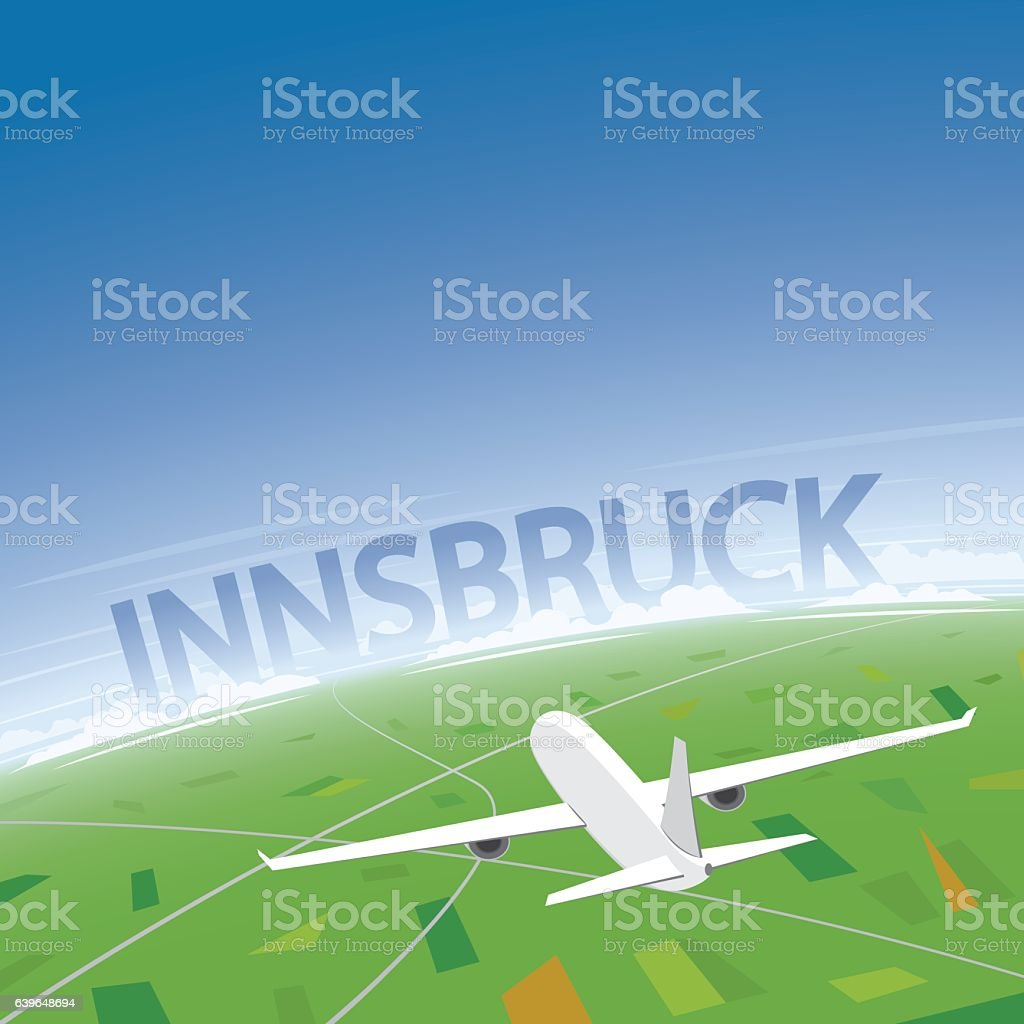 Innsbruck Flight Destination vector art illustration