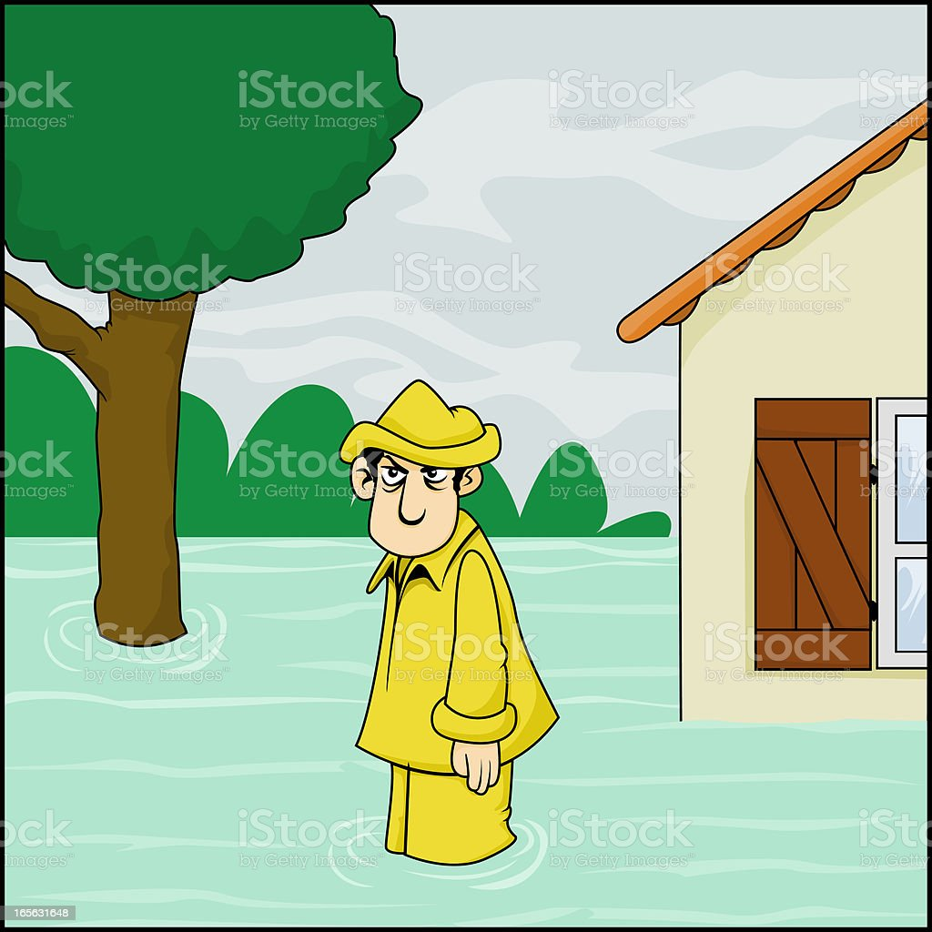 Inondation royalty-free stock vector art